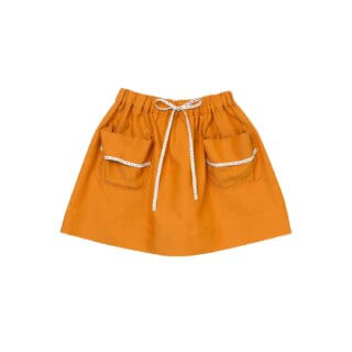Pepe&Nika PepeandNika Little Apparel Kids Fashion Kindermode Oaks of Acorn New York Hong Kong girls Mädchen Skirt golden orange Rock herbstlich autumnal casual chic cute mädchenhaft school outfit Golden Camel Silk Road Skirt country