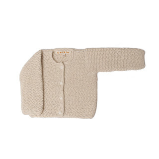 Pepe&Nika PepeandNika Little Apparel Kids Fashion Omibia Baby Cardigan Ivory classic elegant festive luxurious de luxe basics AW 16/17 vernal autumnal organic fairtrade alpaca wool