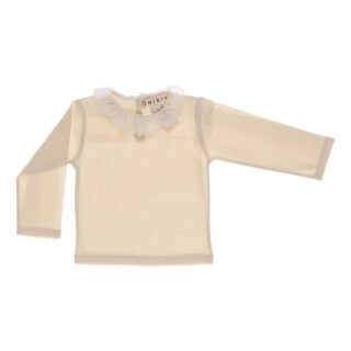 Pepe&Nika PepeandNika Little Apparel Kids Fashion Omibia Baby Long Sleeve with Collar ivory cream classic elegant festive de luxe basics AW 16/17 autumnal organic fair-trade bio cotton