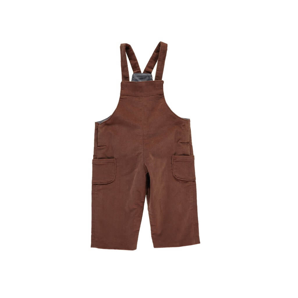 Pepe&Nika PepeandNika Little Apparel Kids Fashion Omibia Baby Dungarees brown casual classic elegant functional festive de luxe basics AW 16/17 autumnal organic fair-trade bio cotton corduroy