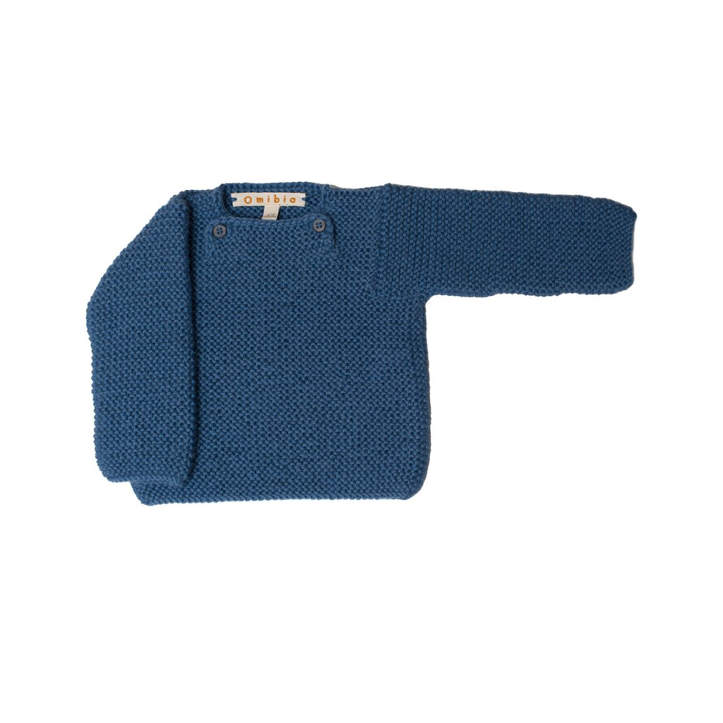 Pepe&Nika PepeandNika Little Apparel Kids Fashion Omibia Baby Jumper Blue classic elegant festive luxurious de luxe basics AW 16/17 vernal autumnal organic fairtrade alpaca wool