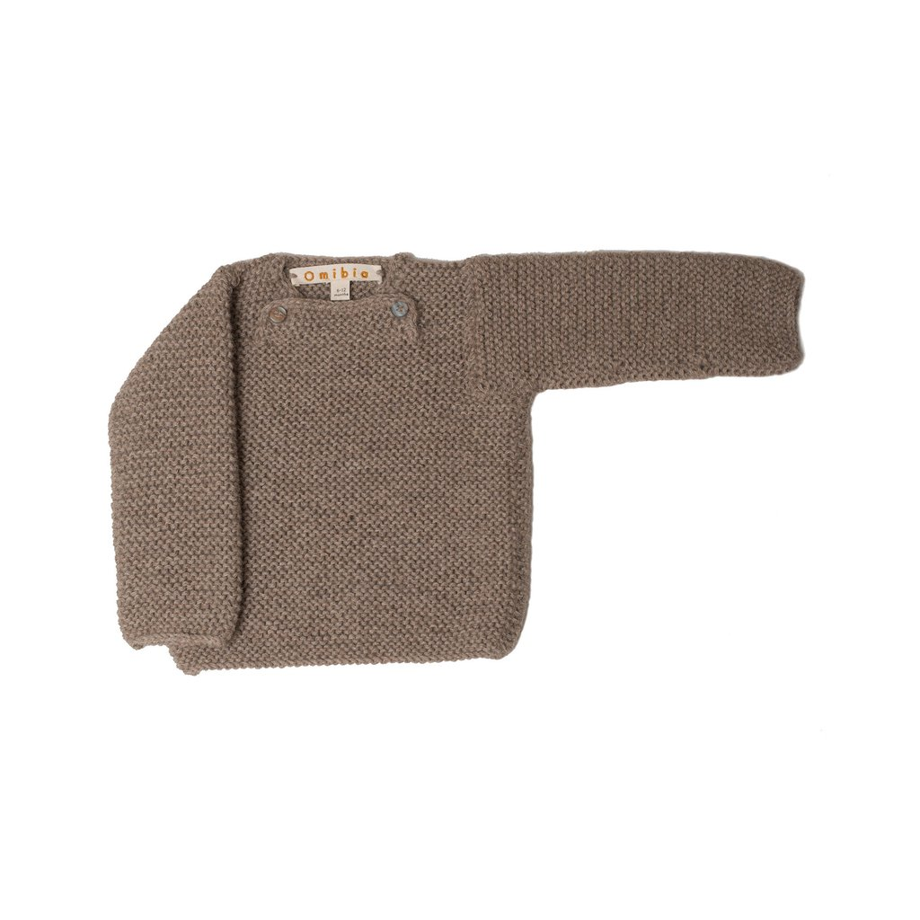 Pepe&Nika PepeandNika Little Apparel Kids Fashion Omibia Baby Jumper Hazel brown classic elegant festive luxurious de luxe basics AW 16/17 vernal autumnal organic fairtrade alpaca wool