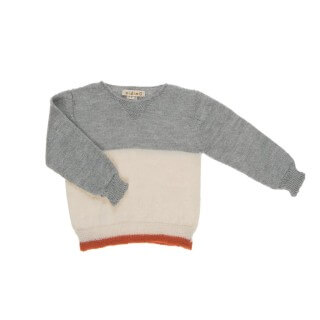 Pepe&Nika PepeandNika Omibia Little Apparel AW 16/17 Kids Fashion Alpaca Sweater grey ecru boys de luxe AW 16/17 autumnal winterly organic fair-trade bio alpaca wool knitted
