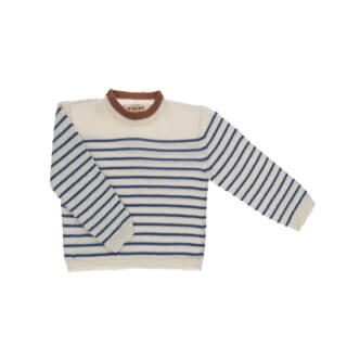 Pepe&Nika PepeandNika Little Apparel Kids Fashion Omibia Baby Sweater striped classic elegant festive luxurious de luxe basics AW 16/17 vernal autumnal organic fairtrade wool blue white