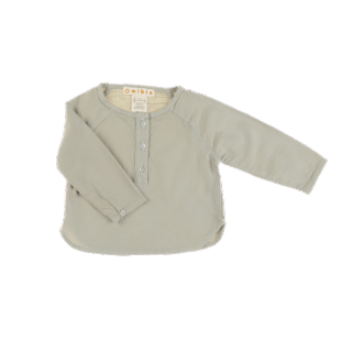 Pepe&Nika PepeandNika Little Apparel Kids Fashion Omibia Baby flannel shirt stone grey classic elegant festive de luxe basics AW 16/17 vernal autumnal organic fairtrade