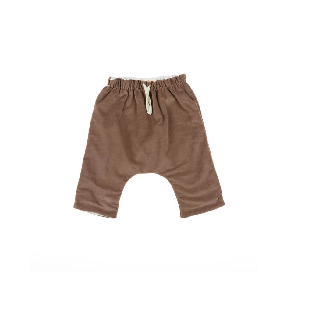 Pepe&Nika PepeandNika Little Apparel Kids Fashion Omibia Baby Harem Pants brown trousers casual classic elegant festive de luxe basics AW 16/17 autumnal organic fair-trade bio cotton