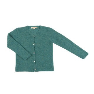 Pepe&Nika PepeandNika Little Apparel Kids Fashion Omibia girls Cardigan green classic elegant festive luxurious de luxe basics AW 16/17 vernal autumnal organic fairtrade merino wool