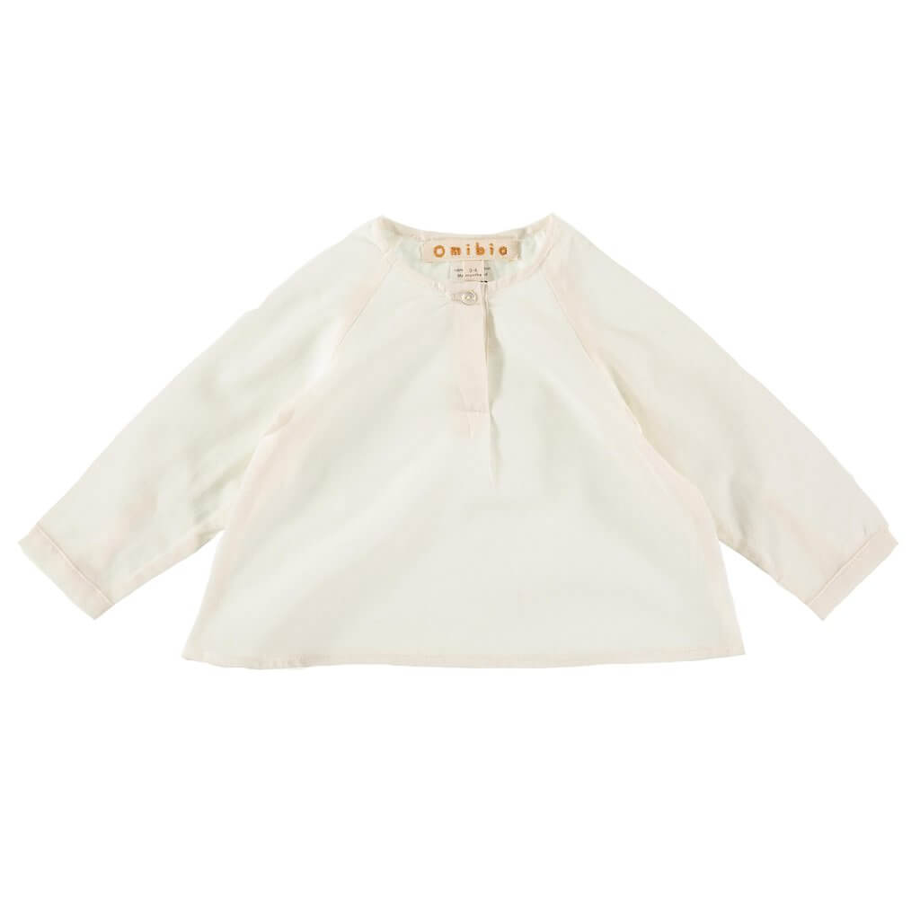 Pepe&Nika PepeandNika Little Apparel Kids Fashion Omibia Shirt Blouse white classic elegant basics de luxe AW 16/17 autumnal organic fair-trade bio maiden vernal festive modest Miller Shirt