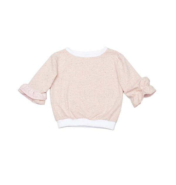 Pepe&Nika PepeandNika Little Apparel Kindermode Kids Fashion Sweater Orchid Pullover apricot Mädchen frühlingshaft summery sommerlich elegant cute SWEATER ORCHID LIGHT PUFFS