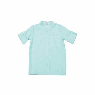Pepe&Nika PepeandNika Little Apparel Kindermode Kids Fashion Linen Shirt Mint Hemdkleid casual summery plain elegant sommerlich