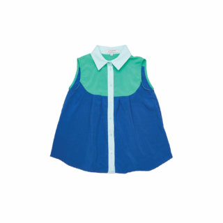 Pepe&Nika PepeandNika Little Apparel Kindermode Kids Fashion Sweater Blue Summer Top Top Blau Bluse Blouse summery sommerlich elegant chic de luxe BLOUSE SWEET PEA DARK