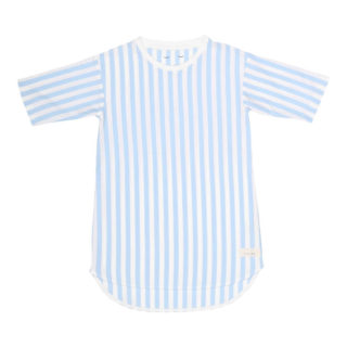 Pepe&Nika PepeandNika Kids Fashion Little Apparel Kindermode Snork Copenhagen Girls nightshirt Seastripes blau weiss sleeping wear sleepwear summery sommerlich casual organic bio Nachthemd beachwear
