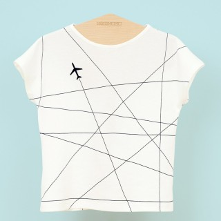 Pepe&Nika PepeandNika minimono Barcelona Spain Little Apprarel T-Shirt Airplane boys girls unisex basic design fancy