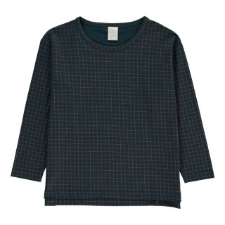 Pepe&Nika Pepeandnika tiny cottons checked longshirt kids girls blue