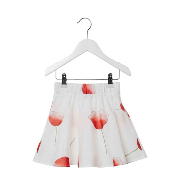 pepeandnika presents wawa copenhagen elegant kidsbrand summerclothes watercolor skirt in white with watercolour print