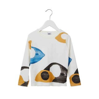 pepeandnika presents wawa copenhagen elegant kidsbrand summerclothes basic Sweatshirt for girls and boys organic longsleeve tee unisex eyes print