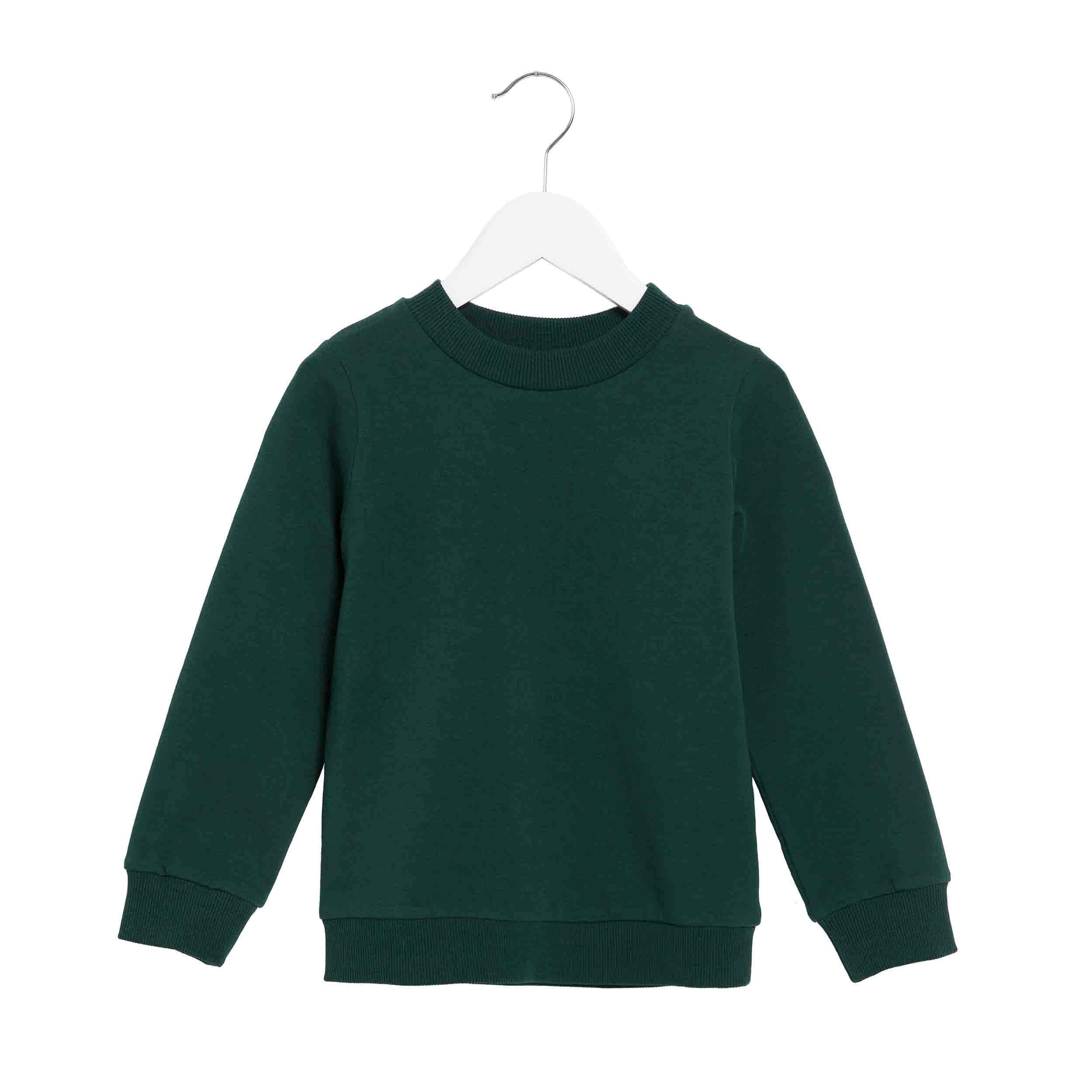 pepeandnika presents wawa copenhagen elegant kidsbrand summerclothes basic Sweatshirt for girls and boys organic and bottle green