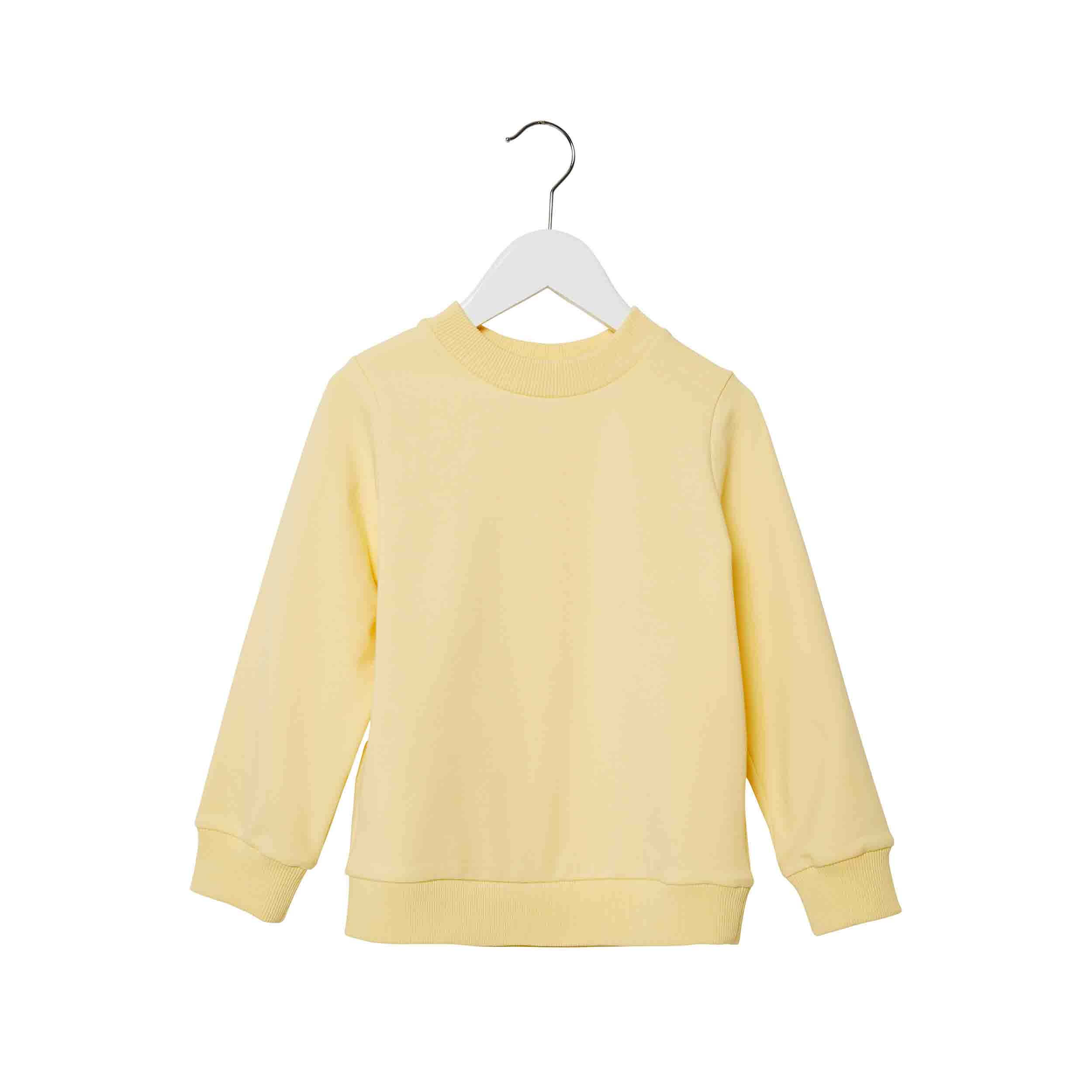 pepeandnika presents wawa copenhagen elegant kidsbrand summerclothes yellow Sweatshirt for girls and boys basic organic