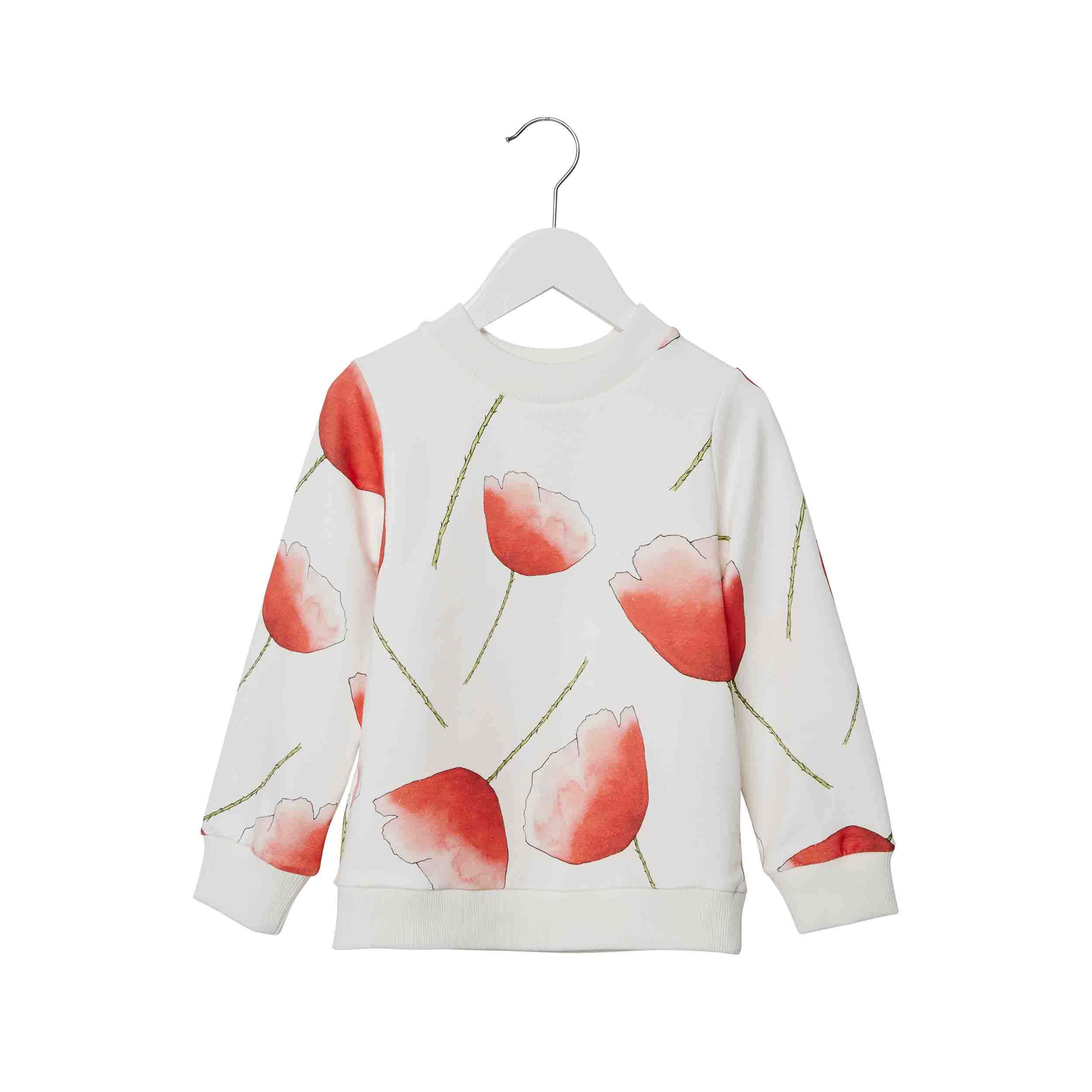 pepeandnika presents wawa copenhagen kidsbrand summerclothes floral Sweatshirt for girls and boys organic
