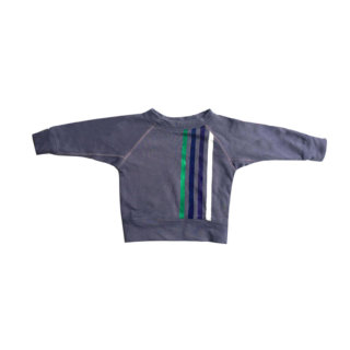 Pepe&Nika pepeandnika wovenplay usa organic kidswear design handmade striped sweater grey blue cool boys