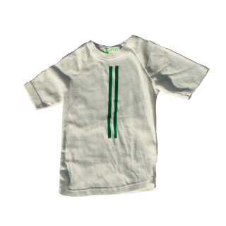 Pepe&Nika PepeandNika Wovenplay Little Apparel Kids Fashion boys Striped T-Shirt green white print autumnal vernal bio casual fair-trade fairtrade handmade Stripe Tee Green