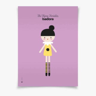 pepe&nika lauvely kidsroom childrensroom design poster poster Isadora POSTER No. 4 The Flying Aerialist Isadora pin