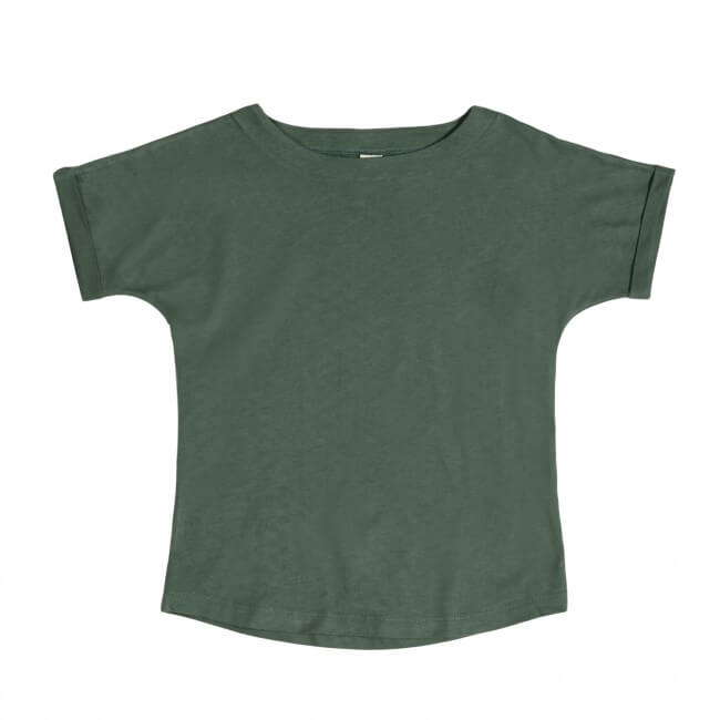 pepeandnika gray label wide neck t shirt for kids and babies brandnew color sage basics casual made from organic bio cotton