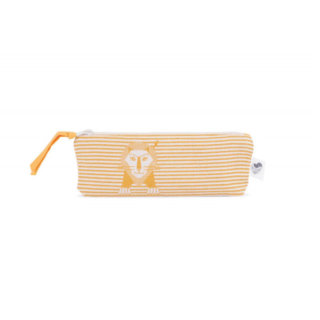 pepe and nika presents cute lion pencil pouch by Les Jouets Libres from france - organic cotton and non-toxic colours