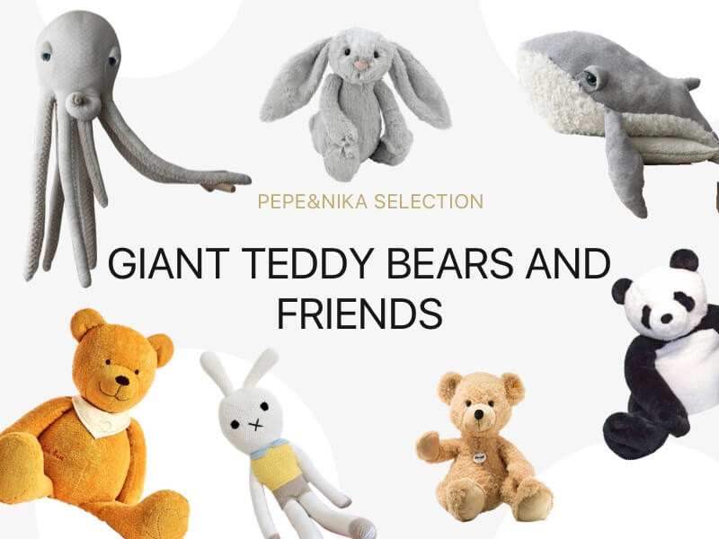 Pepeandnika giant teddy bear and friends bunny big stuffed panda octopus