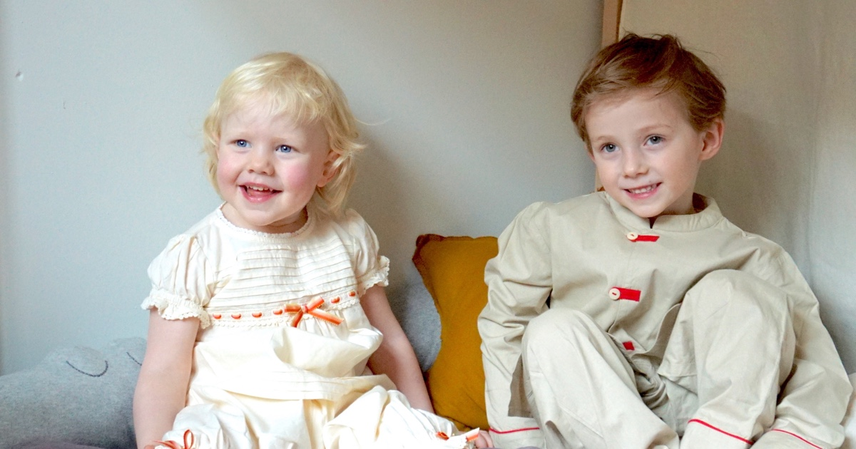Pajama Party with beautiful nightgown by Atticus & Gilda