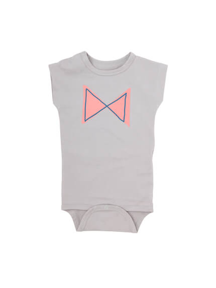 Pepe&Nika pepeandnika iglo + indo little apparel kids fashion kinder mode Bow Bodysuit Stone grey grau girls Body print summery sommerlich cool cute Iceland Island