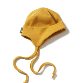 Pepe&Nika PepeandNika Little Apparel Kids Fashion Kindermode COODO Poland newborn Mustard Baby Hat Mütze gelb Baby Accessoires accessories senfgelb casual basics bio organic