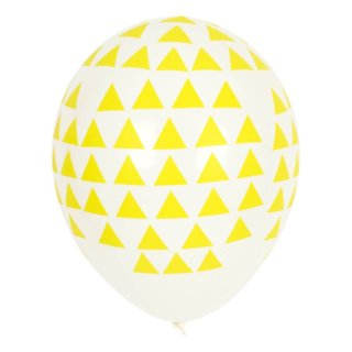 pepeandnika my little day party balloons yellow design triangle print Birthday party celebration kids