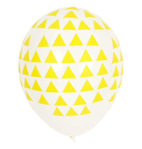 pepeandnika my little day party balloons yellow triangle kids birthday