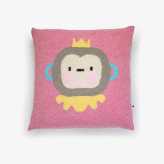 pepeandnika lauvely design cushion monkey pillow in pink baby kids accessoire de luxe lambswool