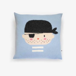 pepeandnika lauvely design cushion pirate pillow in blue baby kids accessoire de luxe lambswool