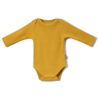Pepe&Nika coodo long sleeved bodysuit yellow organic cotton gots bio baumwolle baby newborn