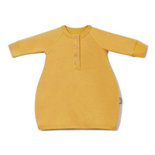 Pepe&Nika PepeandNika Little Apparel Kids Fashion Kindermode COODO Poland newborn Mustard Maxi Dress Kleid senfgelb casual basics bio organic