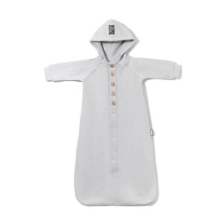 pepeandnika coodo poland organic bio cotton baby newborn hooded romper suit grey