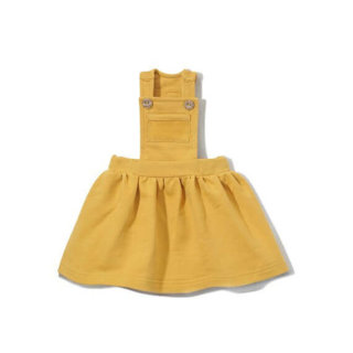 pepeandnika coodo poland baby kids kidsfashion babyfashion girls dungarees dress mustard yellow basics newborn winterly autumnal