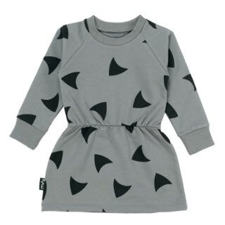 epeandnika mói island organic bio kindermode grey winter dress kleid grau girls babies mädchen bio casual herbstlich autumnal hipster winterly winterlich Winter Dress - Grey Metal