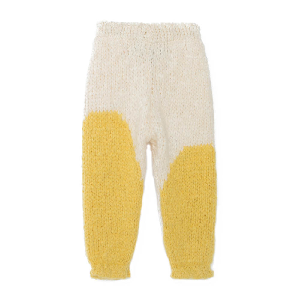 pepeandnika the animals observatory spanish brand baby knit leggings alpaca wool ecru yellow design winterly outfit