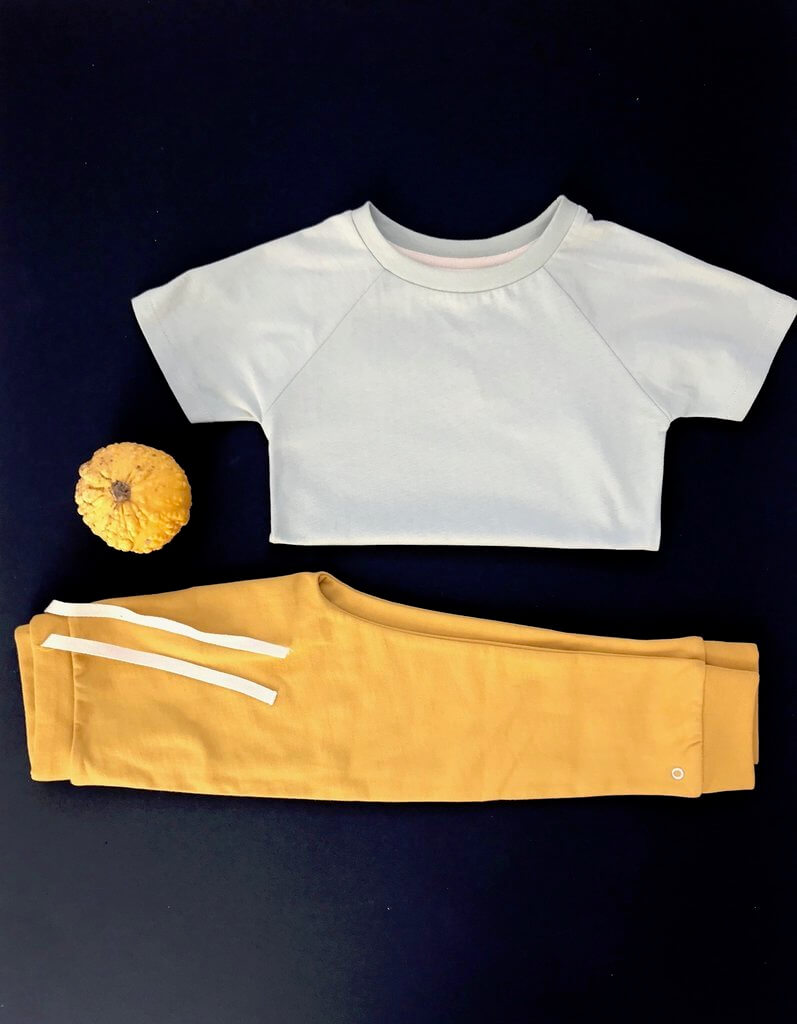 Orbasics organic kids clothes the luxury tee and oh-so easy pants