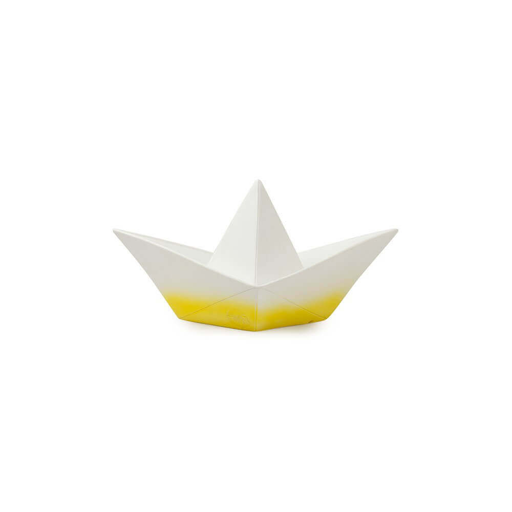 Pepe&Nika PepeandNika Goodnight Light Boat Lamp yellow white origami design Spain France décor handmade